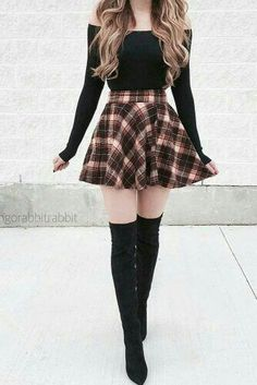 36 schicke Herbst-Outfit-Ideen, die Sie lieben werden, 36 chic fall outfit ideas you'll love Source by Trendy Fall Outfits, Teen Fashion Outfits, Cute Casual Outfits, Girly Outfits, Mode Outfits, Cute Fashion, Look Fashion, Outfits For Teens, Pretty Outfits