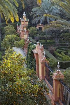 Sevilla, The gardens of the Alcazar Palace - Seville, Spain. Malaga, Places To Travel, Places To See, Travel Destinations, Places Around The World, Around The Worlds, Seville Spain, Andalusia Spain, Spain And Portugal