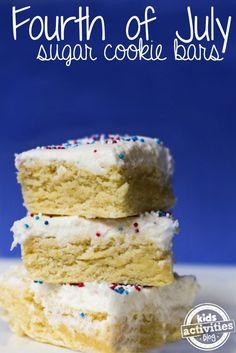 Sugar Cookie Bar 4th of July Dessert
