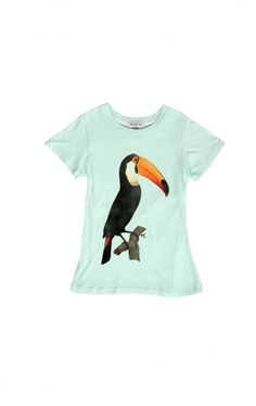 At Koko Blush Wildfox Kids Toucan Tourist Crewneck Tee In Pool Dip
