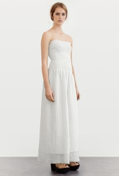 DRESS SHARIF TERRY NET WHITE in the group All items / Dresses at Rodebjer Form AB (1300189100)