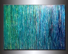 Pintura abstracta original contemporáneo por newwaveartgallery