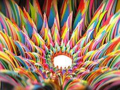colored paper art by Jen Stark Jen Stark, Construction Paper Art, What's My Favorite Color, Ap Studio Art, Art Web, Paper Artwork, 3d Paper, Paper Quilling, Colored Paper