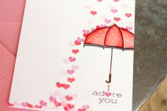 Cascading Hearts Card Close