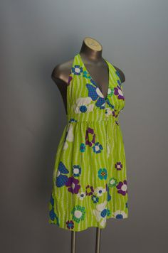 1960s graphic mini dress size small medium 60s by melsvanity, $48.00