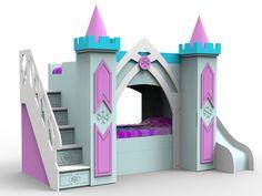 Castillo de princesas Elsa con aspecto de hielo. Entra y mira uno de nuestros mejores diseños para habitación de niña..espectacular!!!