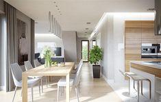 Projekt domu HomeKoncept-09 137,17 m2 - koszt budowy 224 tys. zł - EXTRADOM House Design, Living Room Interior, Kitchen Decor Modern, Dining Room Inspiration, Interior Design, Home Decor, House Interior, Tile Floor Living Room, Modern House Plans