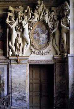 Francesco Primaticcio (1540 - 1570) Royal Staircase (detail) 1535 Apartments of the Duchesse d'Étampes, Fontainebleau, France Sculpture, Stucco