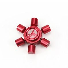 Taold Fidget Spinner Toy Relieve Stress High Speed Focus Toy for Killing Time (Red 15)