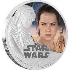 New Zealand Mint - Star Wars: The Force Awakens - Rey ™ 1 oz Silver Coin Rey Star Wars, Star Trek, Mint Shop, Star Wars Design, Bullion Coins, Proof Coins, Last Jedi, Star Wars Characters, Rare Coins