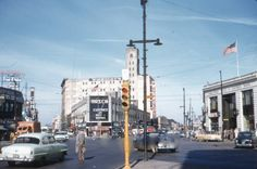 Looking north on Lincoln and Ashland from Belmont, 1952, Chicago.