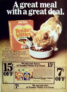 Tender Vittles Cat Food Ad w/Coupon