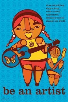 Multi-generational, multi-cultural fierceness!  Artist: Faviana Rodriguez