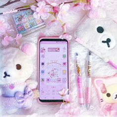 samsung wallpaper anime samsung wallpaper plus My Galaxy Plus is everything! Thanks to sheryljhane for my strawberry Korilakkuma Samsung theme! She makes the cutest themes for samsung devices and it made me so happy! Kawaii Jewelry, Kawaii Accessories, Kawaii Games, Tres Belle Photo, Kawaii Phone Case, Otaku Room, Cute Themes, Aesthetic Phone Case, Phone Themes