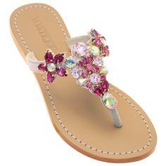 Sparkly Sandals, Pretty Sandals, Shoes Sandals, Mystique Sandals, Clear Shoes, Pink Wedges, Pink Sparkly, Embellished Sandals, 3 Weeks