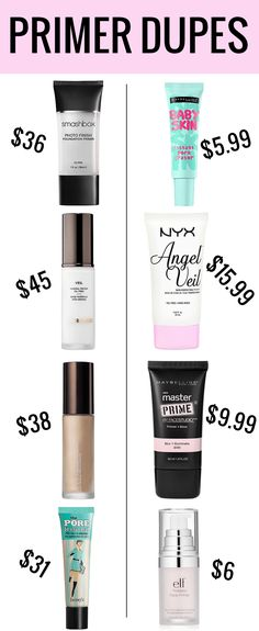 Primer Dupes Why buy end when there are so many amazing makeup primer dupes? The post Makeup Primer Dupes appeared first on Trendy.Why buy end when there are so many amazing makeup primer dupes? The post Makeup Primer Dupes appeared first on Trendy. Beauty Make-up, Beauty Dupes, Beauty Hacks, Natural Beauty, Beauty Land, Beauty Vanity, Beauty Makeup Tips, Face Beauty, Beauty Shop