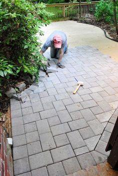 DIY- Patio with Pavers #diy #patio #dan330 http://livedan330.com/2015/03/12/diy-patio-with-pavers/