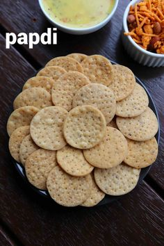papdi recipe, papdi for chaat, how to make fried papdi with step by step photo/video. easy & crispy deep fried flat disc snack with wheat flour & spices. Puri Recipes, Snack Recipes, Cooking Recipes, Dahi Papdi Chaat Recipe, Vegetarian Recipes, Pakora Recipes, Dessert Recipes, Indian Snacks, Indian Food Recipes