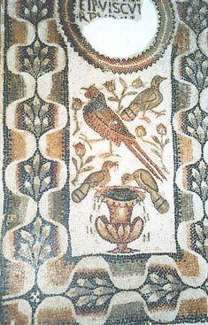 Tunisia050.JPG - Tunisi - Museo del Bardo - Mosaico con piccoli volatili