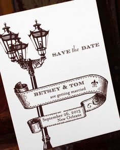 Do a Parisian one - St. Charles Avenue: New Orleans wedding save the date Wedding Paper, Our Wedding, Destination Wedding, Wedding Planning, Dream Wedding, Perfect Wedding, New Orleans Party, New Orleans Wedding, Estilo Charleston