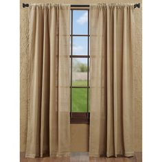 Our best-selling curtain!  The Burlap Natural Panels are a great option for country, rustic, primitive, and urban loft modern rooms.  100% cotton woven into a soft, natural burlap-look fabric, a great texture at a great price!  See it here:  https://www.thebitloom.com/collections/country-rustic-curtains/products/burlap-natural-curtain-collection?variant=22885466695