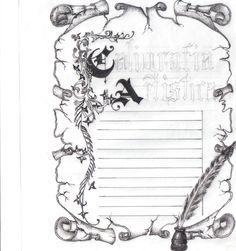 Desenho Pergaminho em nanquim - por M.DenizeC
