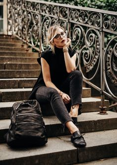 all black everything | outfit, fashion | style: edgy, black, dark, timeless…