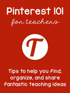 Pinterest for teachers - tips to help you find great ideas and make sure Pinterest puts the ideas that YOU want to see in your feed!