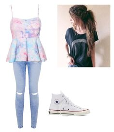 """Untitled #1"" by avafunkymonkeyfini-1 ❤ liked on Polyvore featuring Converse"