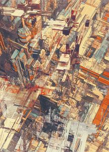 """Atelier Olschinsky - """"Cities IV / Deconstructed""""    I love order in chaos when it comes to art."""