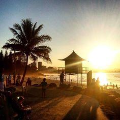 SNAPPER ROCKS SUNSET #sunset #snapperrocks #coolangata #nature #australia #goldcoast #beach #surf #lifeguard #friends #enjoying #happy #beautiful by renanvalli