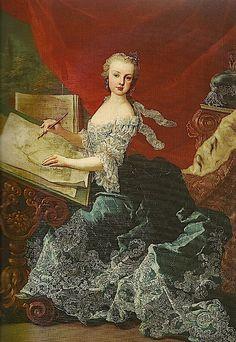 1750 Archduchess Marie Christine, Duchess of Teschen by Martin van Meytens (location unknown to gogm) Wm