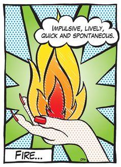 The Fire Signs / pop art