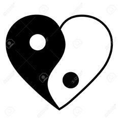 Yin Yang Heart Royalty Free Cliparts, Vectors, And Stock . Cute Little Drawings, Cute Easy Drawings, Art Drawings For Kids, Pencil Art Drawings, Yin Yang Tattoos, Cool Pictures For Wallpaper, Pictures To Draw, Jin Y Jan, Foto Logo