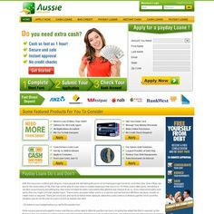Aussie Cash Loans needs a new website design