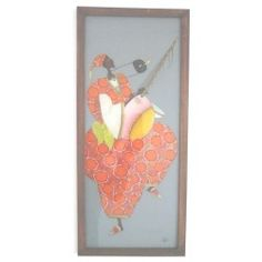 Cadre Déco Musicien Peinture Sous-Verre Mame Gueye