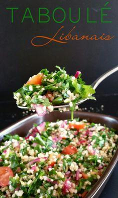 Taboulé Libanais #recette #végétal #vegan #salé @ Envie d'Une Recette Végétalienne ? Veggie Recipes, Salad Recipes, Healthy Recipes, Veggie Food, Healthy Food, Dessert Recipes, Tabouli Salad Recipe, Nicoise Salad, Parmesan Roasted Potatoes