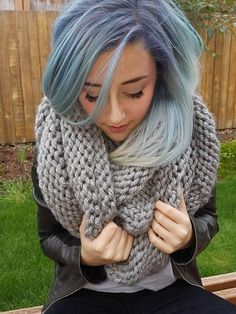 Check out this item in my Etsy shop https://www.etsy.com/listing/480152224/chunky-knit-infinity-scarf