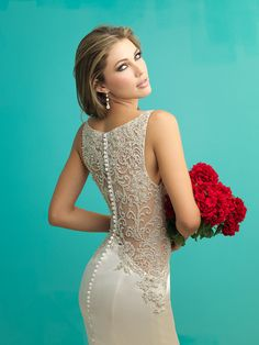 Allure Bridals 9252 Wedding Dress with Dramatic Back Detail