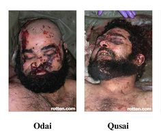 Sadam Hussein's sons executed by their own tribe in Irak.