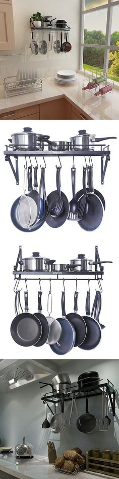 Racks and Holders 46283: Pot Pan Kitchen Hanging Rack Wall Mount Kitchen Bookshelf Holder Shelf Organizer -> BUY IT NOW ONLY: $50.93 on eBay!