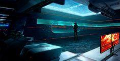 Cyberpunk Wallpaper, Dr REM's Secret Lab - Control Room by FreeMind93