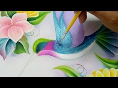 Basic Painting, Painting Videos, Painting & Drawing, Amazing Paintings, Painted Clothes, Flower Art, Hand Embroidery, Art Drawings, Hand Painted