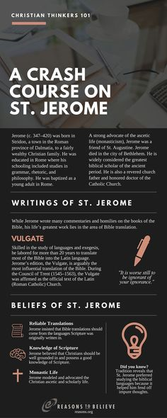 St. Jerome in a nutshell. #history #christianfathers #faith