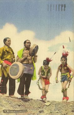 New Mexico dancers. Postcard, United States of America.