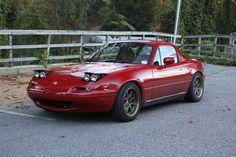 NA Miata with Bronze Konig Flatout rims Mazda Miata, Dream Cars, Bronze, Bmw, Collection