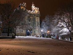 Snowy Lancaster Castle