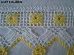 This Pin was discovered by Dür Crochet Dollies, Crochet Lace Edging, Crochet Borders, Crochet Flower Patterns, Crochet Trim, Filet Crochet, Crochet Designs, Yarn Thread, Thread Crochet