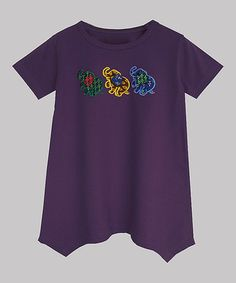 Love this Purple Haathi Organic Handkerchief Tee - Infant, Toddler & Girls by A.T.U.N. on #zulily! #zulilyfinds