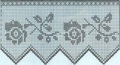 Professione Donna: Schemi per il filet: Bordi con fiori, linee, rose e rombi